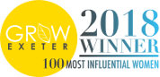 Logo for Grow Exeter 2018 Winner of 100 Most Influential Women